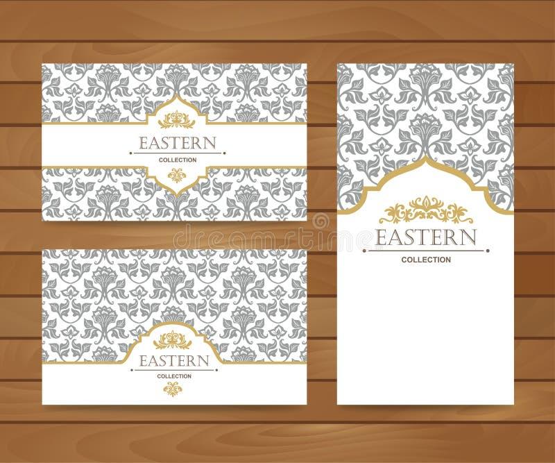 Weinlesekartendesign für Grußkarte, Einladung, Fahne, Visitenkarte stock abbildung