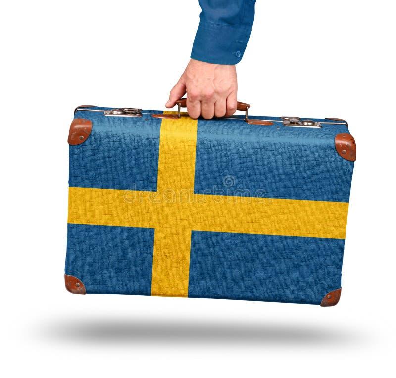 Weinlesekofferreise nach Schweden stockfotos