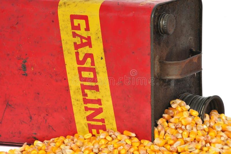Weinlesekraftstoff-Behälterbenzin oder Maisäthanol stockbilder