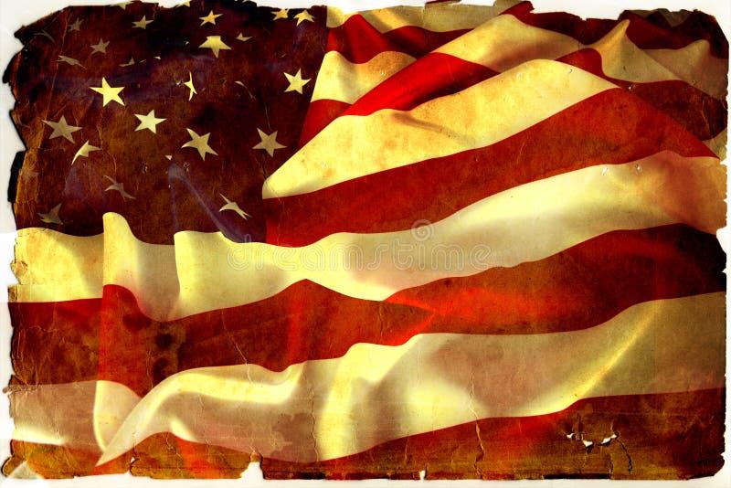 Weinlesemarkierungsfahne USA stockfotos