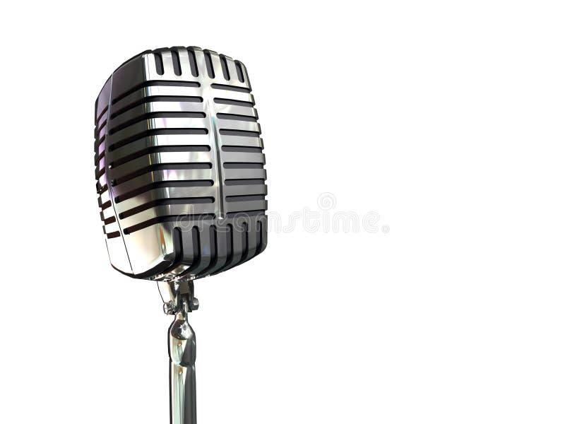 Weinlesemikrofon lizenzfreie abbildung