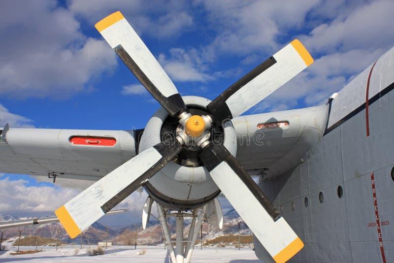 Weinlesemilitärflugzeug lizenzfreies stockfoto
