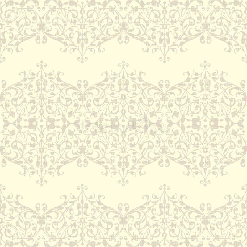 Weinlesenahtloses Blumenleinenmuster lizenzfreie abbildung