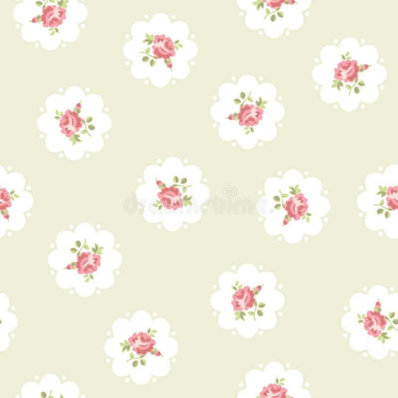 Weinlesenahtloses Blumenmuster stock abbildung