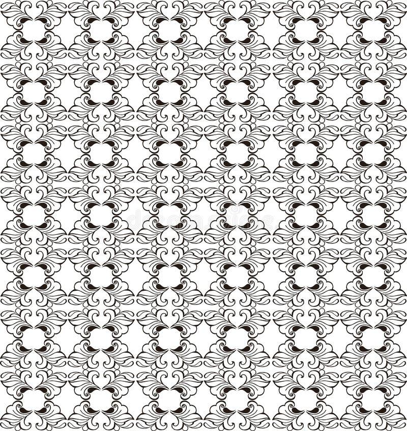 Weinlesenahtloses Blumenmuster Dekorativer Verzierungshintergrund für Gewebe, Gewebe, Packpapier, Karte, Einladung lizenzfreie abbildung