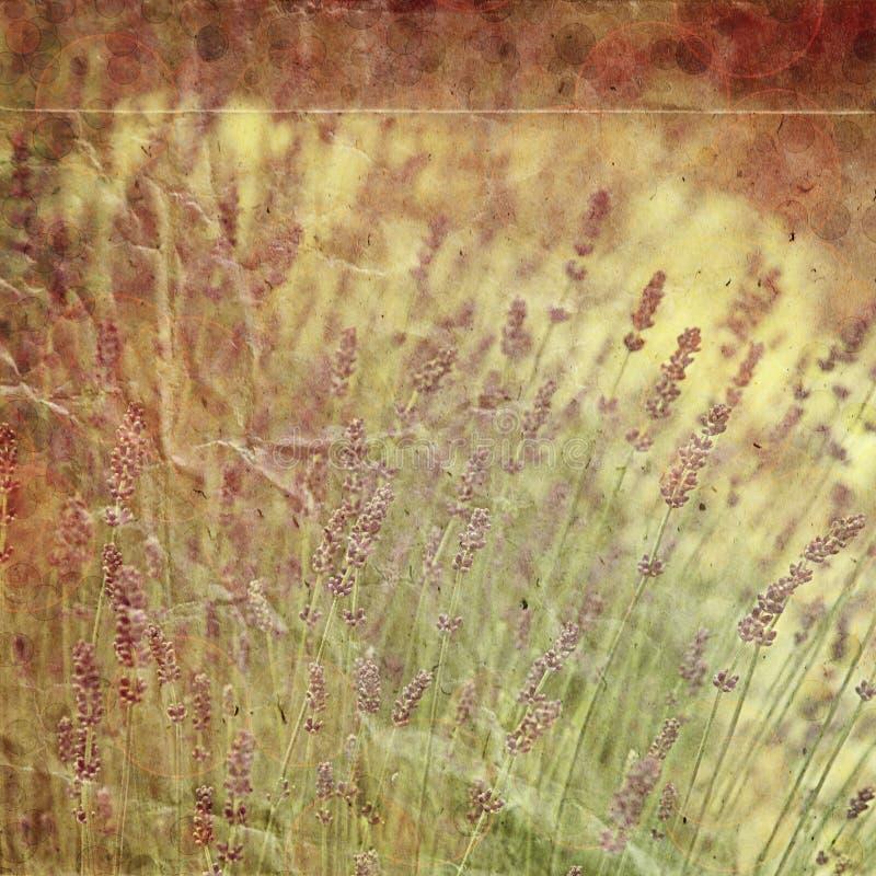 Weinlesepapier mit Blumen lizenzfreie stockfotos