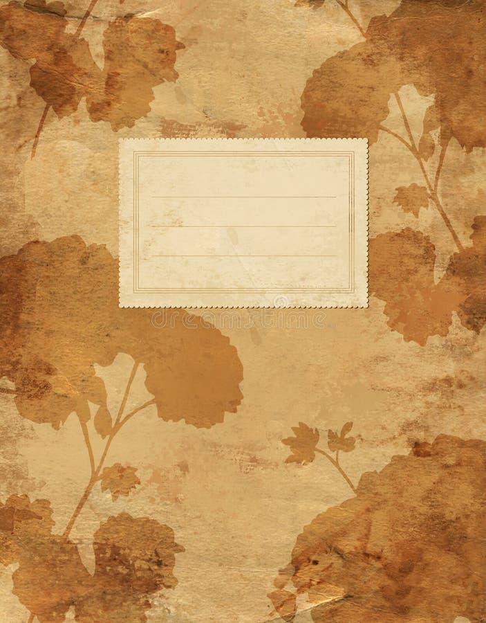 Weinlesepelargonien-Schattenbild-Blumenabdeckung stockfotos