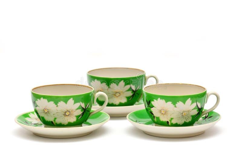 Weinleseporzellan-Teesatz lizenzfreie stockbilder