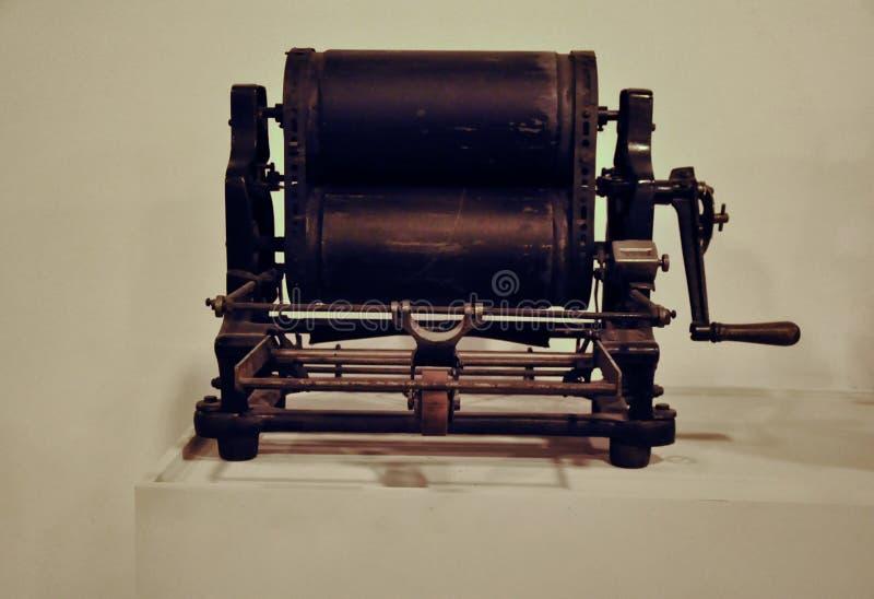 Weinlesepressemaschine stockfotos