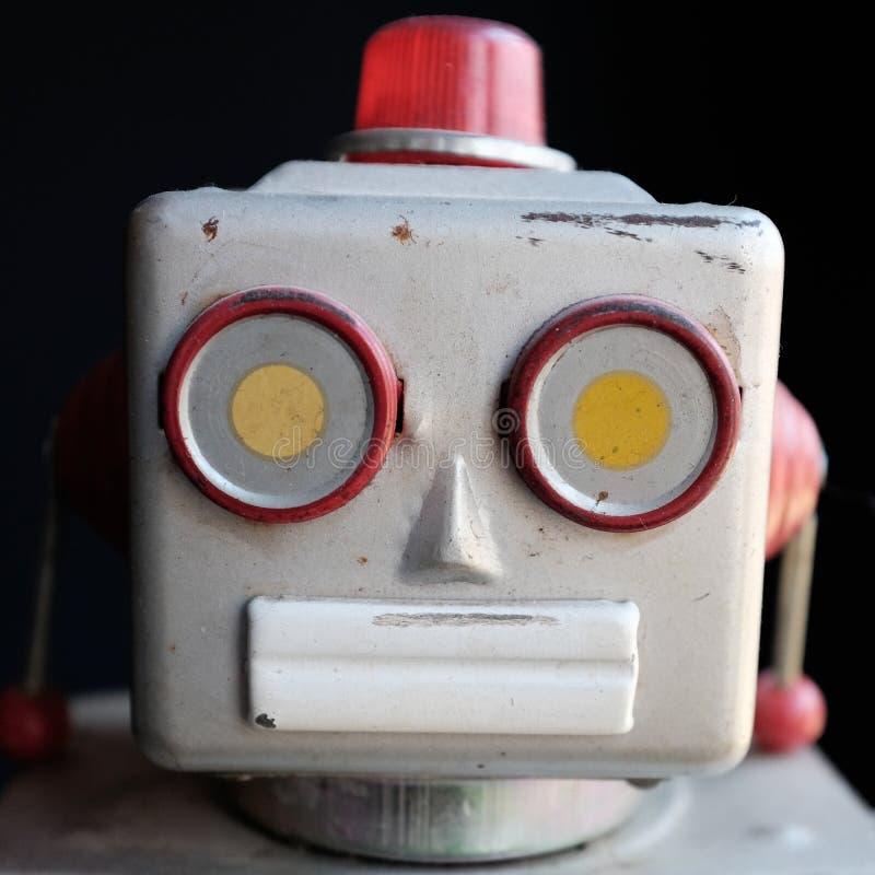 Weinleseroboterspielzeug stockfotos