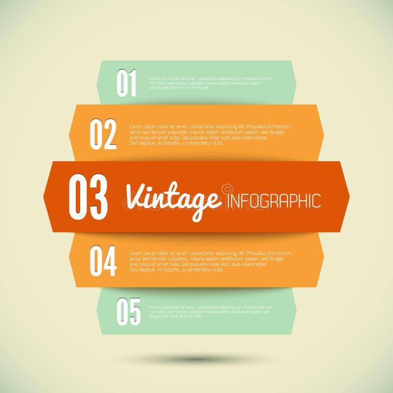 Weinleseschablone für Ihr infographic lizenzfreie abbildung