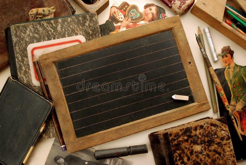 Weinleseschuletafel lizenzfreies stockbild