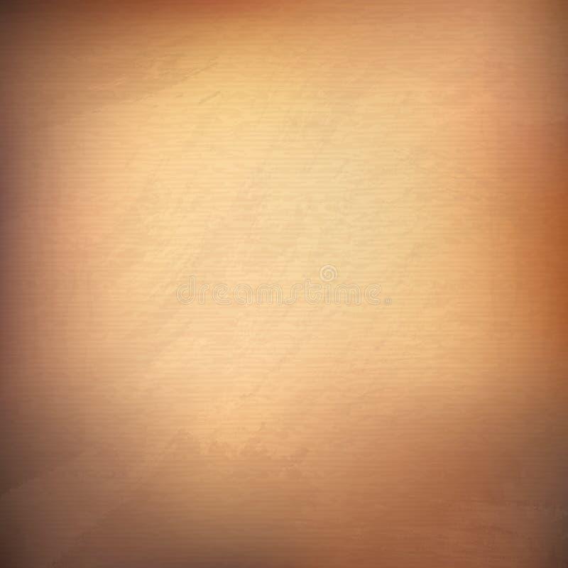 Weinleseseiten Braune Beschaffenheit des Schmutzes Altes Papier Abstraktes Goldenes stock abbildung