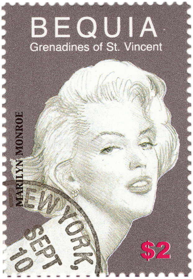 Weinlesestempel mit Monroe stockbild