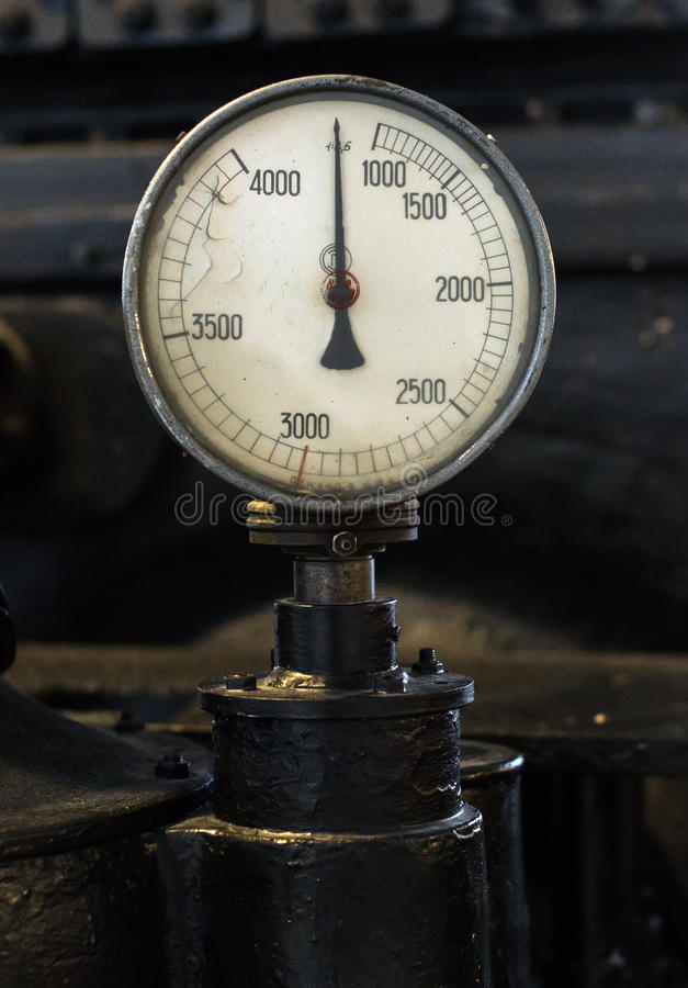 Weinlesetachometer lizenzfreies stockbild