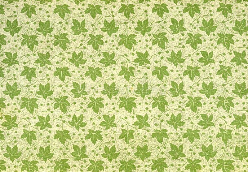 Weinlesetapete - Blätter stock abbildung