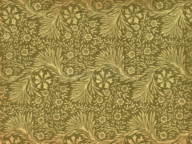 Weinlesetapete - Blätter und Zweige vektor abbildung