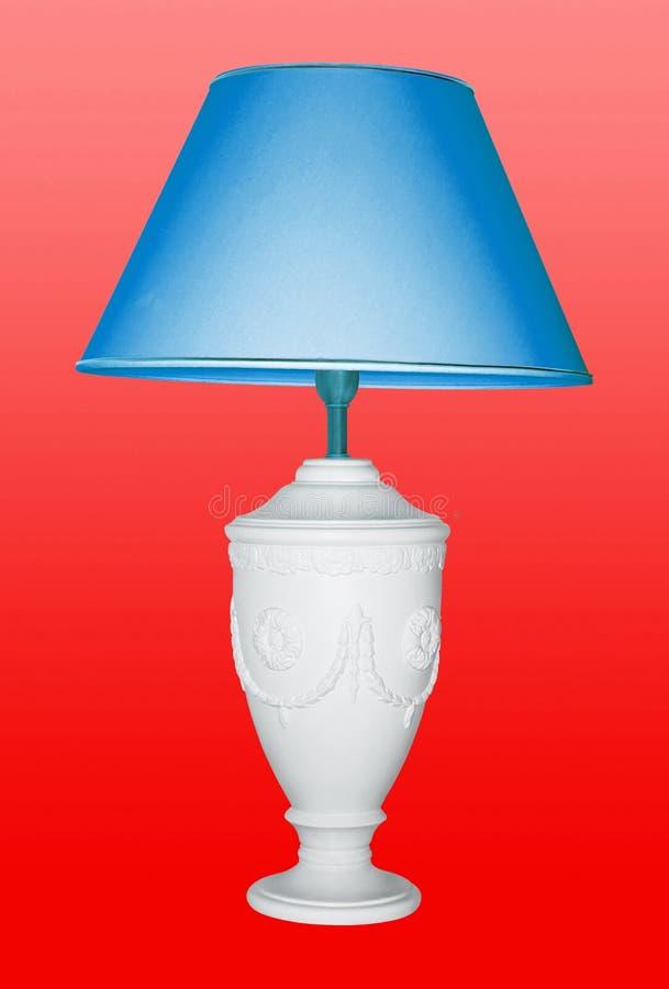 Weinlesetischlampe iwith ein blauer Lidschatten stockbild