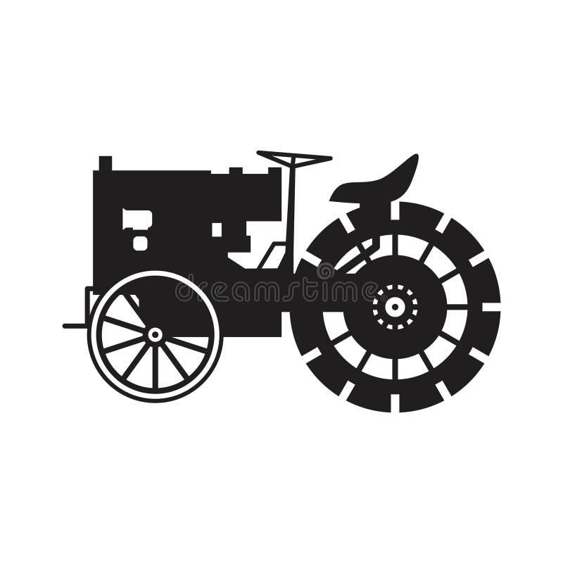 Weinlesetraktor-Vektorikone lizenzfreie stockbilder