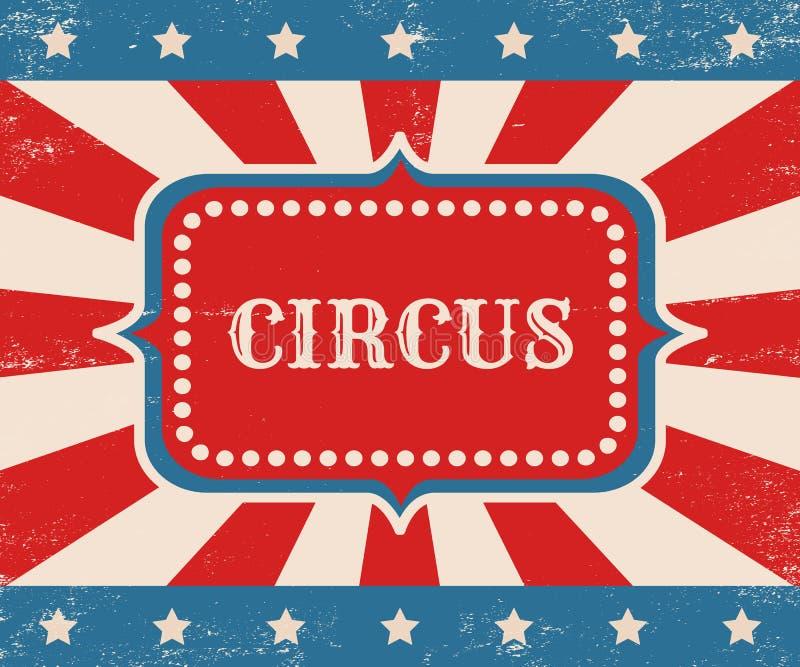 Weinlesevektorplakat für Zirkus vektor abbildung