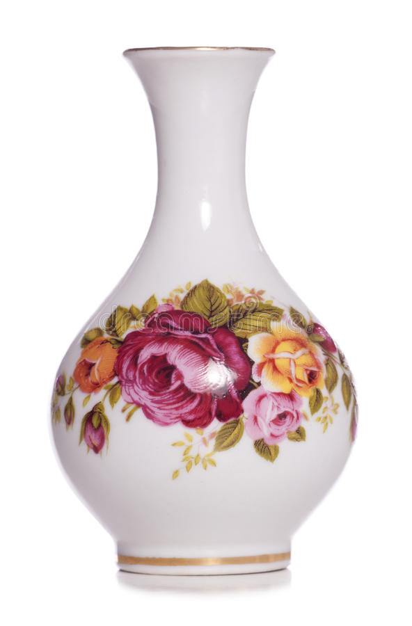 Weinleseweißer Blumenvase stockfotografie