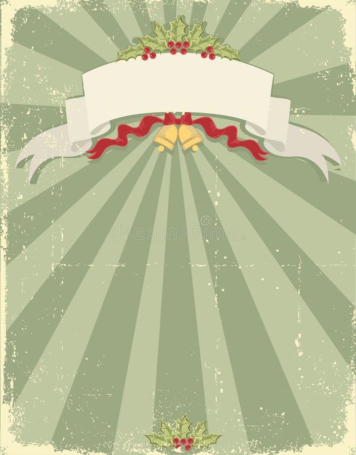 Weinleseweihnachtshintergrund für Auslegung lizenzfreie abbildung