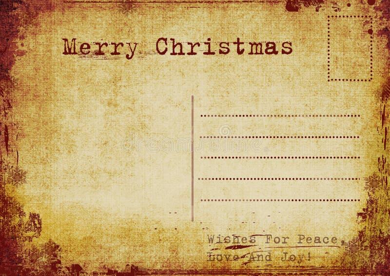 Weinleseweihnachtspostkarte vektor abbildung