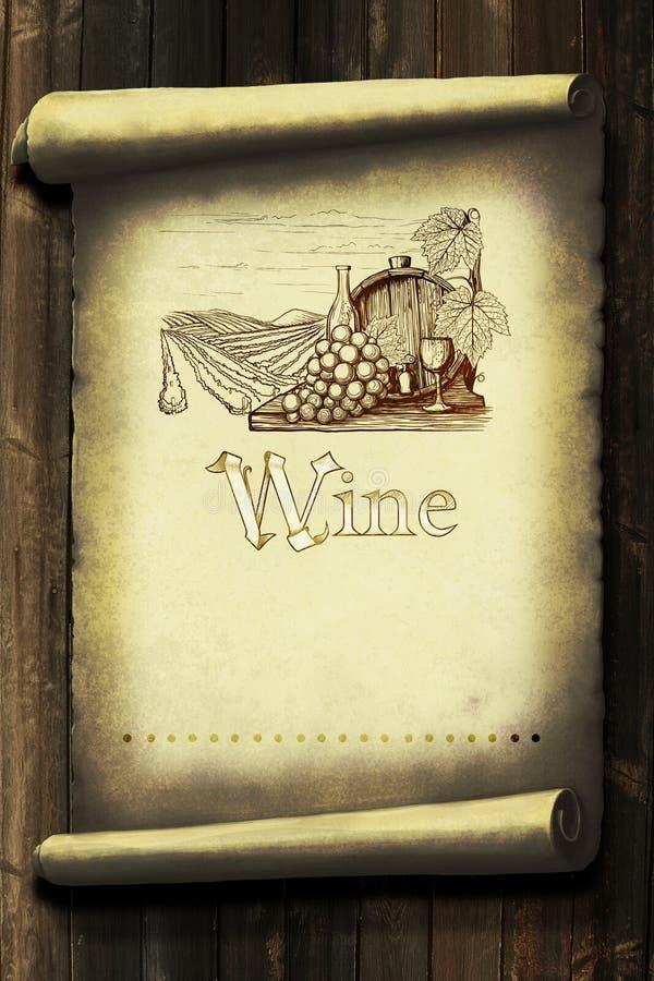 Weinleseweinaufkleber lizenzfreie abbildung