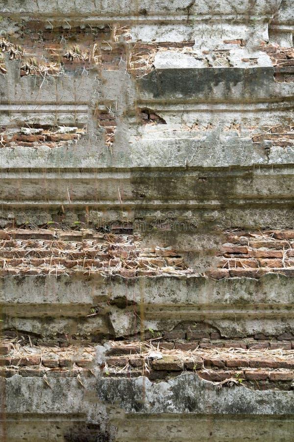 Weinleseziegelstein und Zementhintergrund lizenzfreie stockbilder
