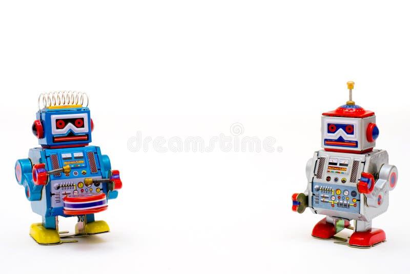 Weinlesezinn-Spielzeugroboter lizenzfreie stockfotos