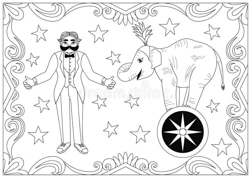 Weinlesezirkus-Illustrationssammlung vektor abbildung