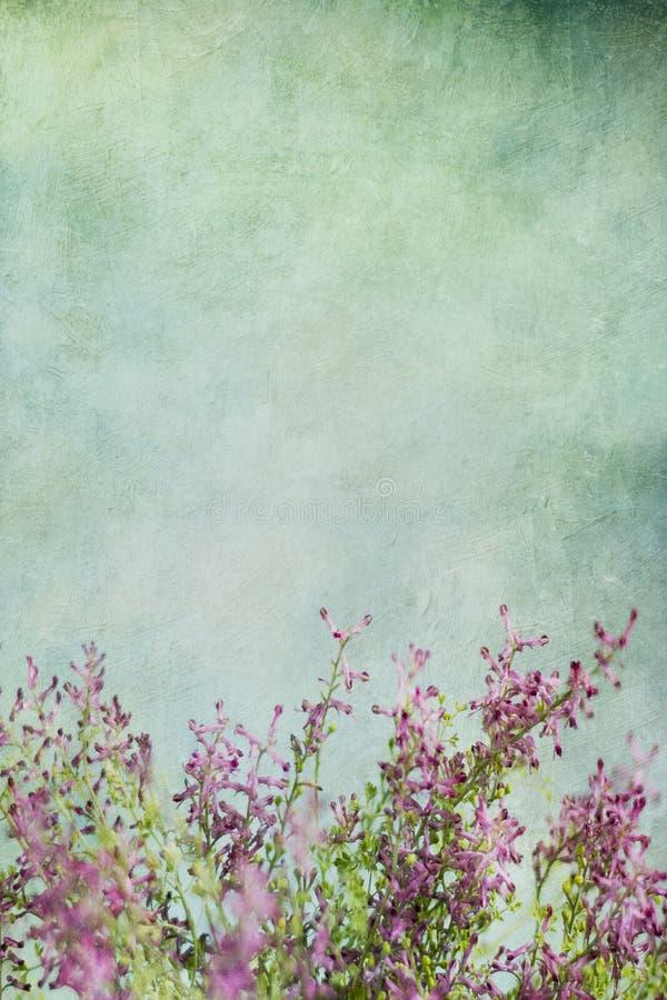 Weinlesezusammenfassungs-Blumenhintergrund stockbild