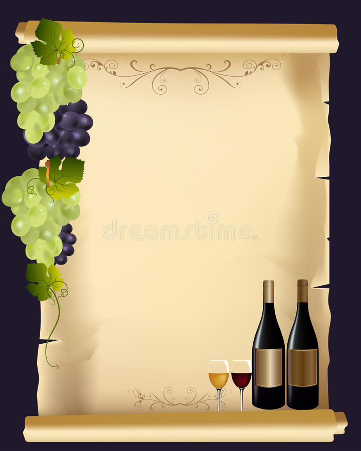 Weinmenü lizenzfreie abbildung