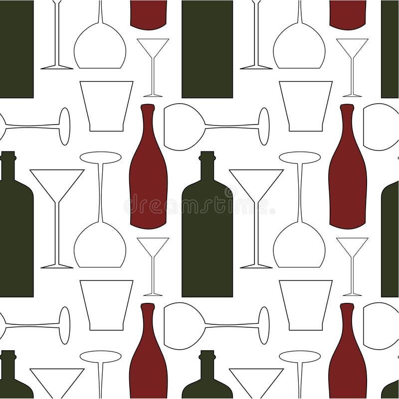 Weinmuster vektor abbildung