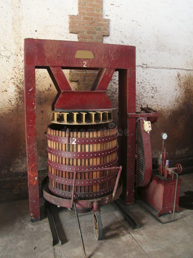 Weinpresse stockbilder