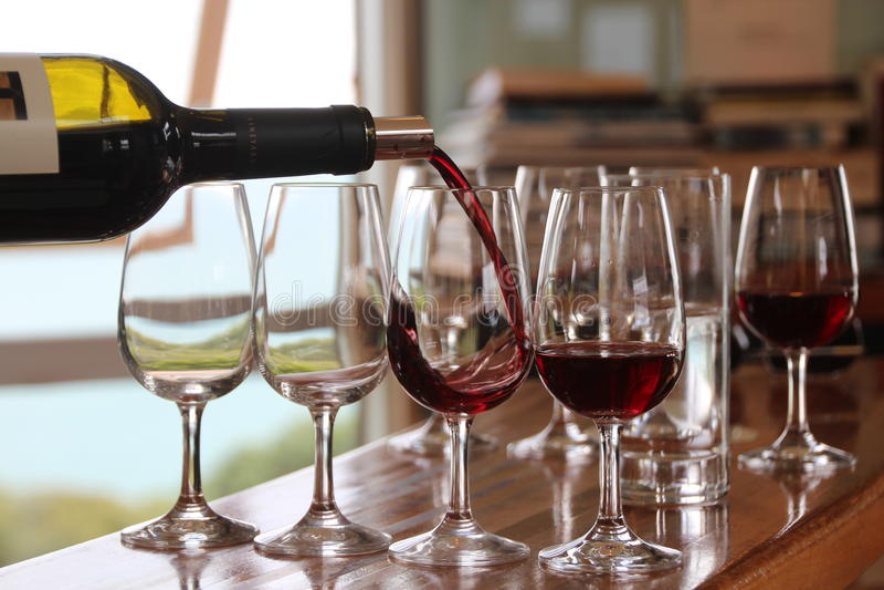 Weinprobe lizenzfreies stockfoto