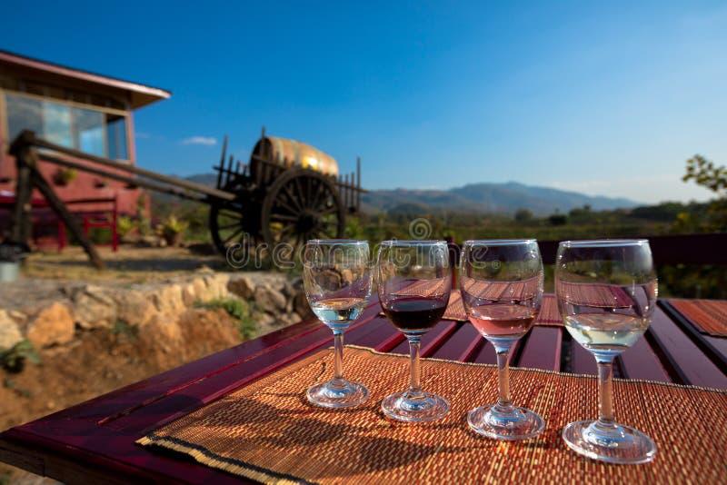 Weinprobegläser lizenzfreie stockfotografie