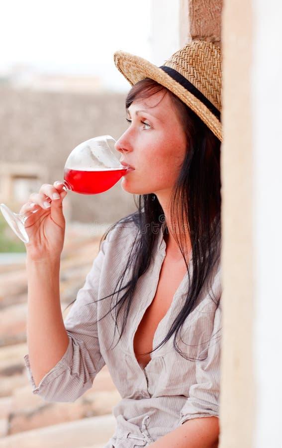 Weinprobieren lizenzfreies stockbild