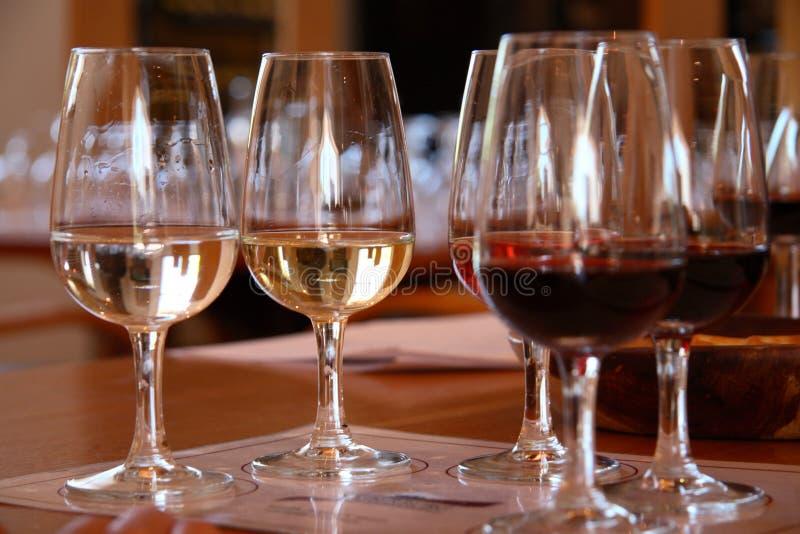 Weinprobieren stockfotos