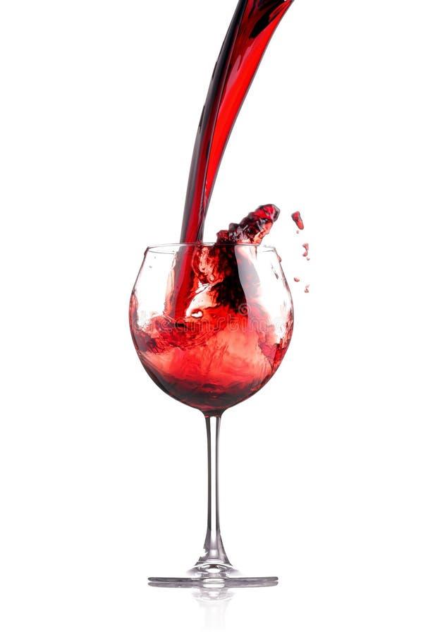 Weinspritzen stockfotografie