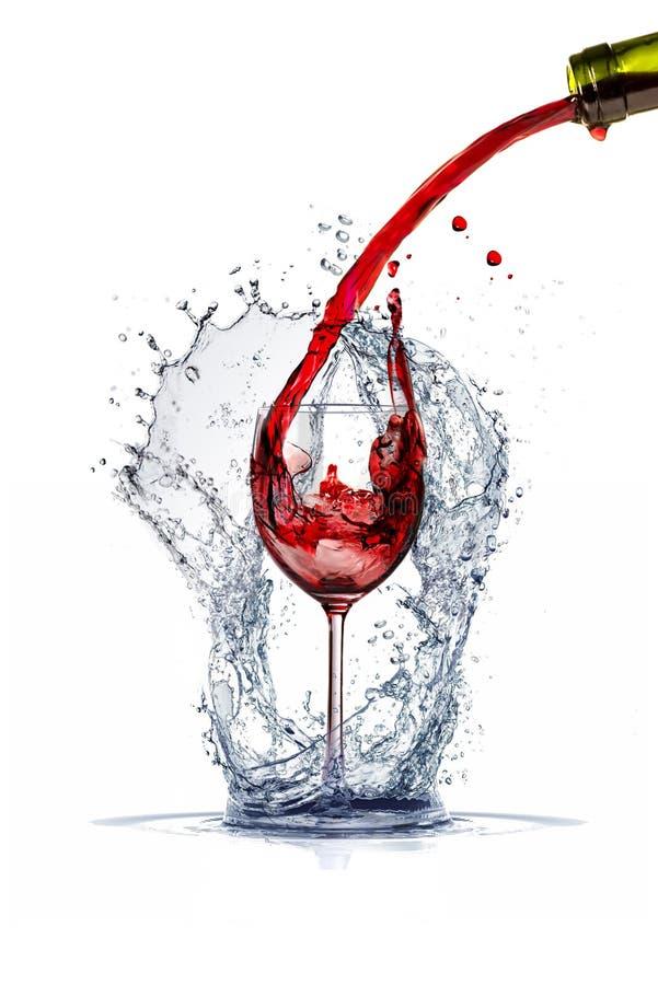 Weinspritzen lizenzfreie stockfotos