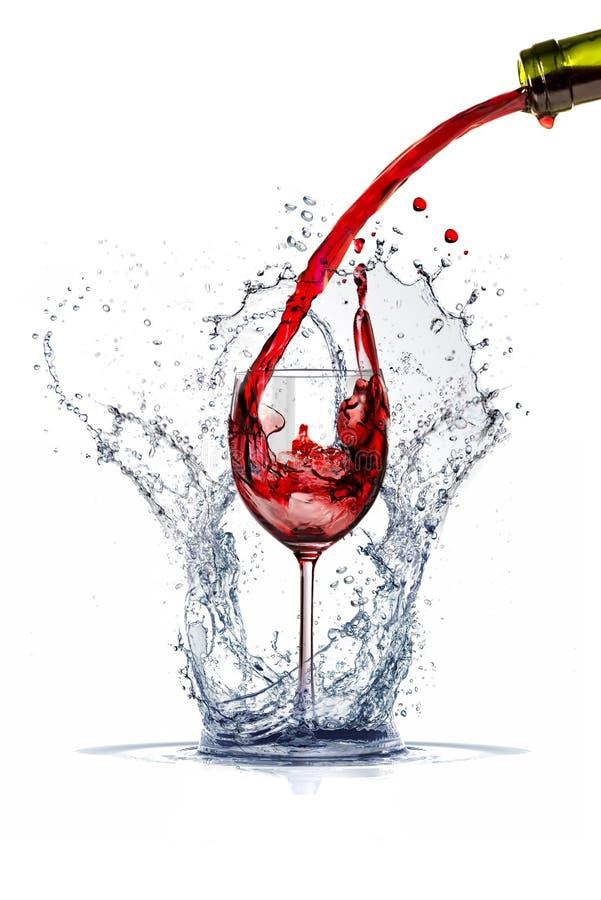 Weinspritzen lizenzfreies stockbild