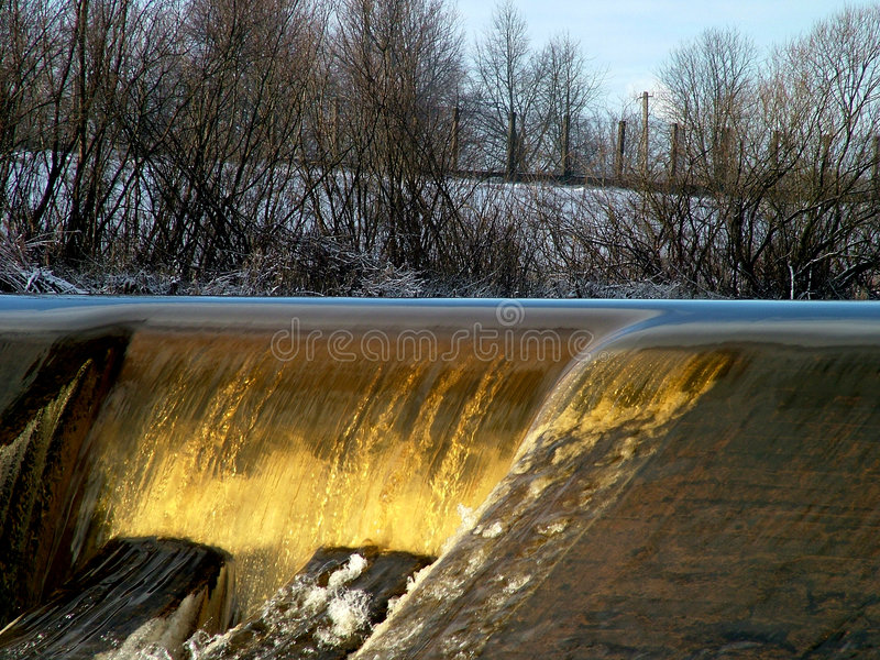 Weir detail 1 stock photography
