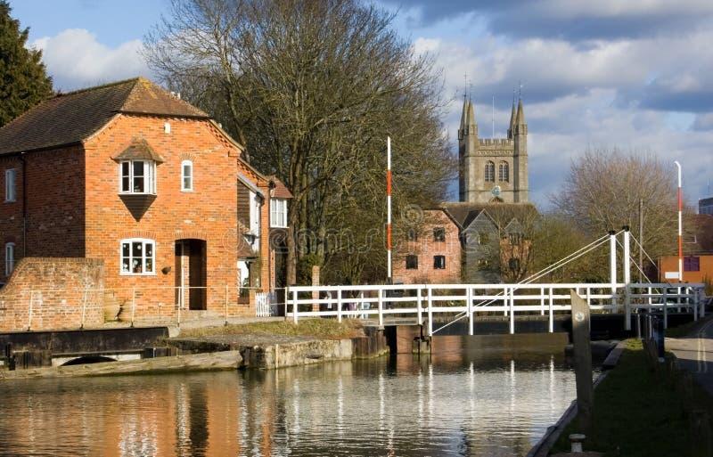 Weir At Newbury, Berkshire Royalty Free Stock Photo