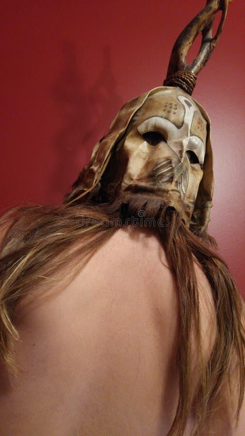 Weird creature. Mask monster creature royalty free stock photos