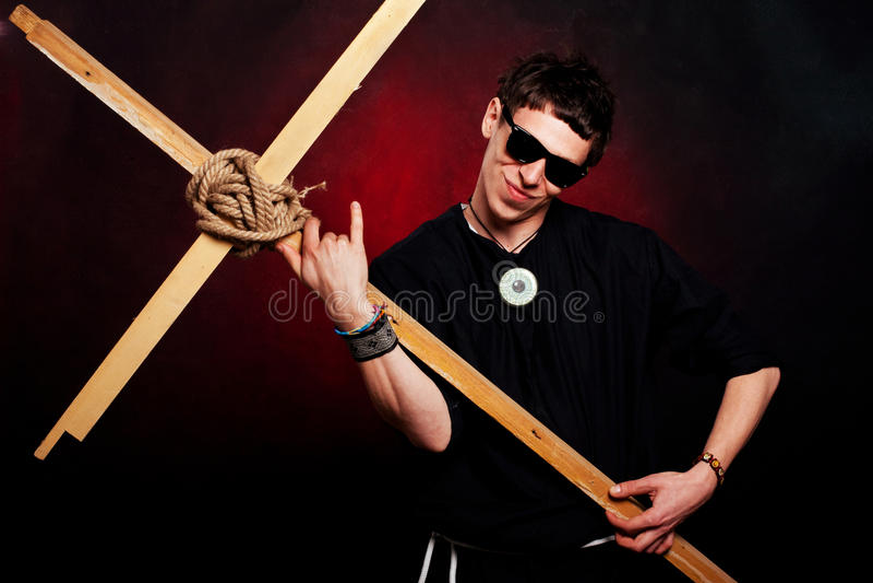 Rocker priest royalty free stock photo