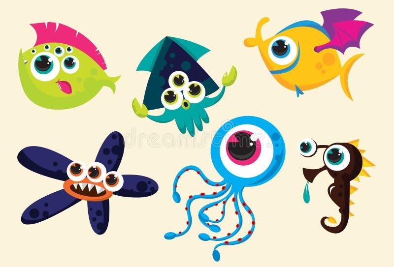 Download Weird underwater creatures stock vector. Illustration of creatures - 21446109