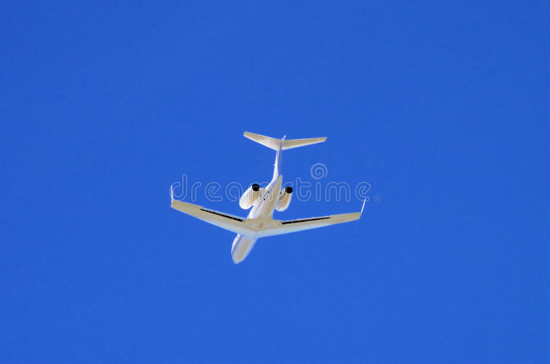 Weise privater Jet On Itss ' stockfoto