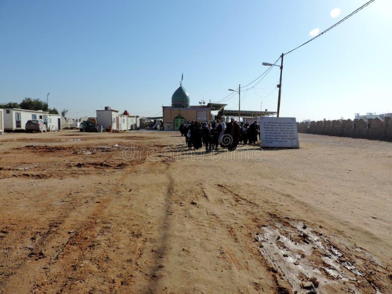 Weise zum Grab des Prophets Hud und des Prophets Saleh, Kerbela, der Irak stockbild