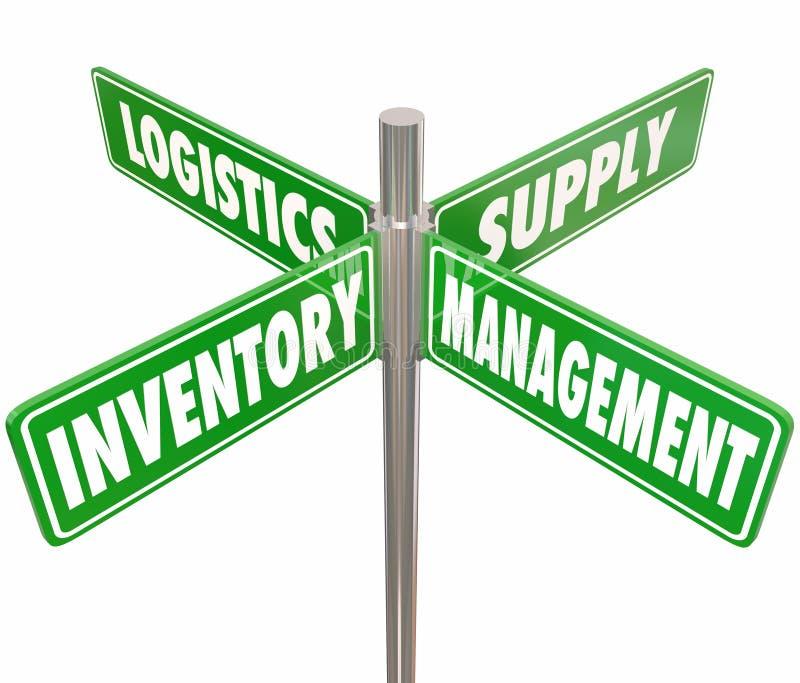 Weisen-Verkehrsschilder des Bestandsmanagement-Logistik-Versorgungs-Steuer4 lizenzfreie abbildung